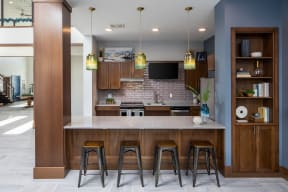 Clubroom Kitchen at The Edison at Spirit, Lakeville, MN