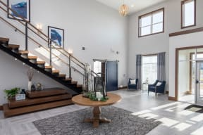 Modern Clubroom at The Edison at Spirit Apartments in Lakeville, Minnesota