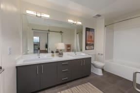 Full bath with double vanity