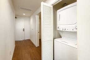 Washer/dryer near front door