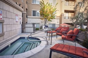 Apartments for Rent San Jose, CA - Aviara Apartments Relaxing Spa with Lounge Chairs and Couches