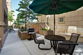 outdoor grill and patio area