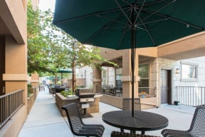 patio area with grills