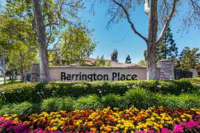 Barrington Place sign