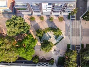 birds eye view of main and nine entry way