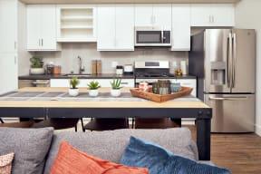 furnished kitchen