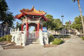 downtown riverside Chinese pavilion