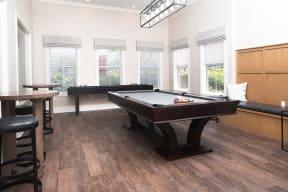 Billiards table in clubroom