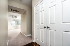 hallway with closet