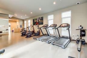 Treadmills in fitness center