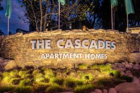 The Cascades monument sign