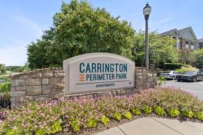 Carrington at Perimeter Park Entrance Sign