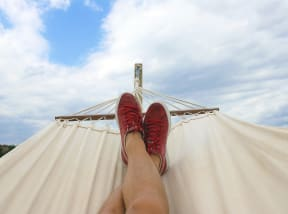 Relaxing On Hammock at The Teale, Kissimmee, Florida