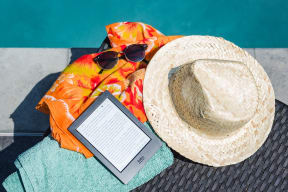 Hat And A E-Book at The Teale, Kissimmee, Florida