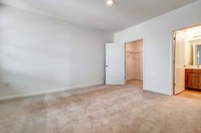 Bedroom and bath   Ageno Apartments in Livermore, CA