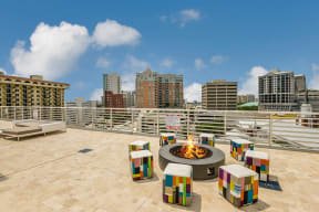 Outdoor Rooftop Fire Pit