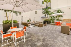 Comfortable Courtyard Seating