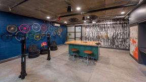 Bike and lounge storage