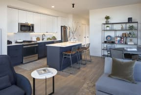 Gourmet Kitchens with Prep Islands at North+Vine, Chicago, Illinois