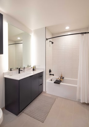 Luxurious Bathrooms at North+Vine, Chicago, Illinois