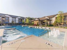 Resort Style Pool with Aqua Sundeck at One White Oak, Cumming, GA, 30041