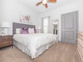 Spacious Bedroom With Comfortable Bed at One White Oak, Cumming, GA