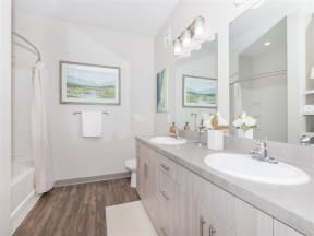 Updated Bathrooms at One White Oak, Cumming, Georgia