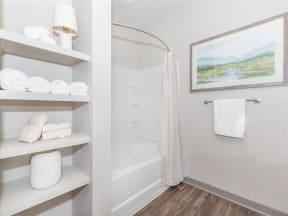 Large Soaking Tub In Bathroom at One White Oak, Cumming