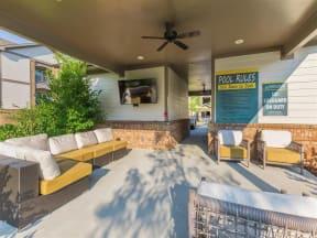 Poolside Entertainment Area at One White Oak, Cumming, GA