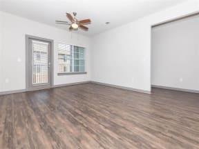 Wood Floor Living Room at One White Oak, Cumming, GA