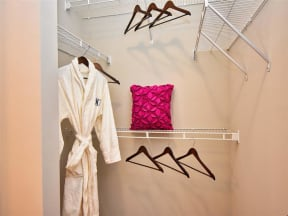 Built-In Shelving In Pointe at Lake CrabTree Closet in Morrisville, NC Apartment Rentals for Rent