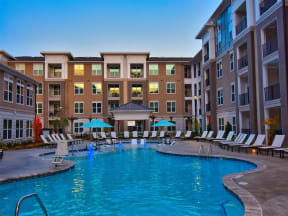 Pointe at Lake CrabTree Swimming Pool With Relaxing Sundecks in Morrisville Apartments