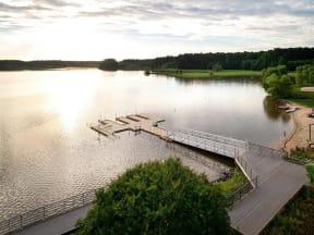 Serene Lakeside View at Pointe at Lake CrabTree Apartment Rentals in North Carolina