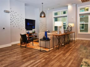 Trendy Pointe at Lake CrabTree Living Room in Morrisville, NC Apartment Rentals for Rent