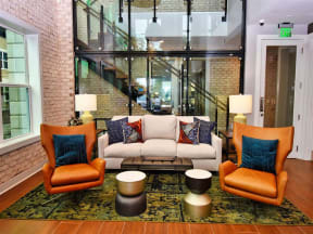 Classic Pointe at Lake CrabTree Living Room Design in North Carolina Apartments