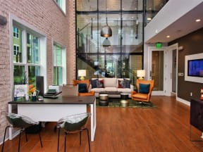 Large Pointe at Lake CrabTree Clubhouse With Ample Sitting And Television in Morrisville, North Carolina Apartment Homes
