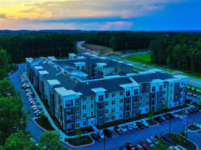 Aerial View Of Pointe at Lake CrabTree in Morrisville, NC Rentals