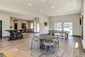 Clubroom with ample seating