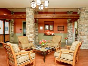 Portofino Senior Apartments Community Seating Area