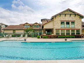 Portofino Senior Apartments Pool Area