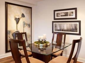 Dining Room of model unit