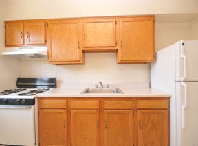 Well-Designed Kitchens with Full Complement of Appliances at Olde Salem Village, Falls Church, VA,22041