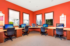 Mac/PC Business Center with Wireless Printing