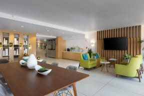 Clubroom with TV