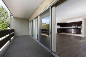Balcony adjacent to living area