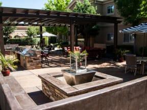 BBQ Area  l Vineyard Gate Apartments in Roseville CA
