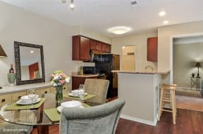 Eat-in Kitchen Table, at Suncrest Apartment Homes, Indianapolis, 46241