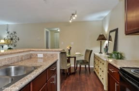 Stainless Steel Sink With Faucet In Kitchen, at Suncrest Apartment Homes, Indiana, 46241