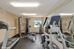 High-Tech Fitness Center, at Suncrest Apartment Homes, Indianapolis, Indiana