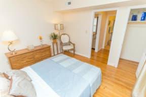 bedroom at apartments in Norfolk VA